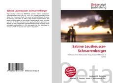 Portada del libro de Sabine Leutheusser- Schnarrenberger