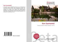 Bookcover of Sun (surname)