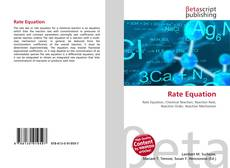 Buchcover von Rate Equation