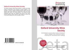Обложка Oxford University Wine Society