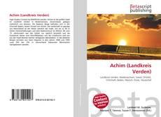 Capa do livro de Achim (Landkreis Verden)