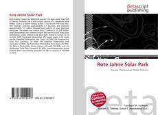 Buchcover von Rote Jahne Solar Park