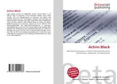 Buchcover von Achim Block