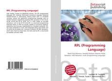 Capa do livro de RPL (Programming Language)