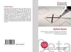 Bookcover of Achim Exner
