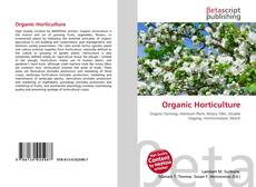 Bookcover of Organic Horticulture