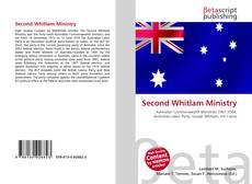 Capa do livro de Second Whitlam Ministry