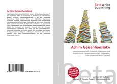 Copertina di Achim Geisenhanslüke