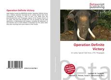 Bookcover of Operation Definite Victory