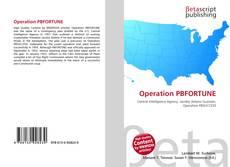 Capa do livro de Operation PBFORTUNE