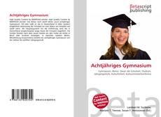 Portada del libro de Achtjähriges Gymnasium