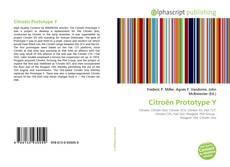 Capa do livro de Citroën Prototype Y
