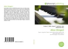 Bookcover of Alice (Singer)