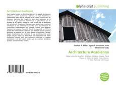 Couverture de Architecture Acadienne
