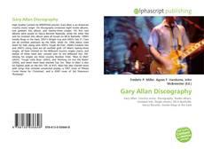 Portada del libro de Gary Allan Discography