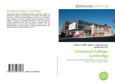 Обложка Emmanuel College, Cambridge
