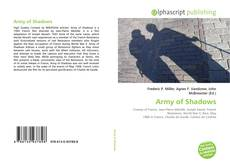 Copertina di Army of Shadows