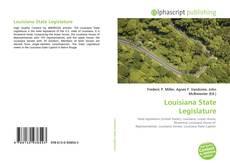 Bookcover of Louisiana State Legislature