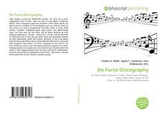 De Facto Discography kitap kapağı