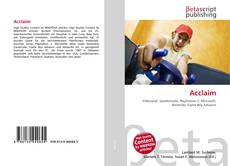 Bookcover of Acclaim