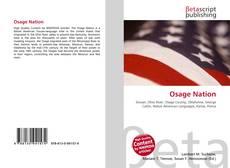 Bookcover of Osage Nation