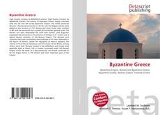 Bookcover of Byzantine Greece