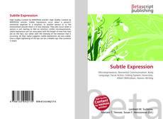 Bookcover of Subtle Expression