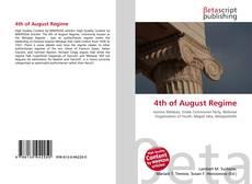 4th of August Regime kitap kapağı