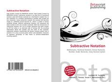 Bookcover of Subtractive Notation