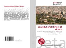 Couverture de Constitutional History of Greece
