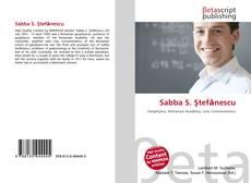 Buchcover von Sabba S. Ştefănescu