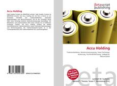 Bookcover of Accu Holding
