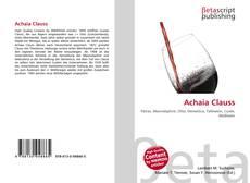 Borítókép a  Achaia Clauss - hoz