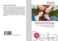Обложка Adolescent Psychology