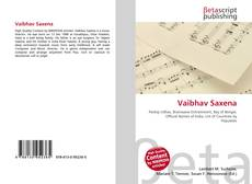 Bookcover of Vaibhav Saxena