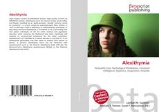 Bookcover of Alexithymia
