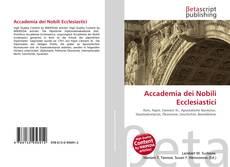 Couverture de Accademia dei Nobili Ecclesiastici