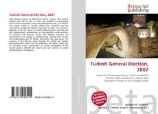 Buchcover von Turkish General Election, 2007