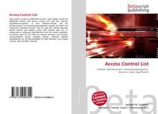 Couverture de Access Control List