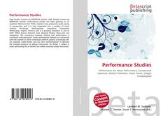 Bookcover of Performance Studies