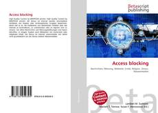 Bookcover of Access blocking