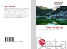Bookcover of Object Language
