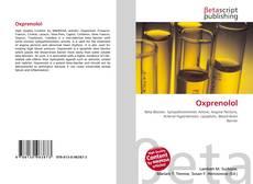 Bookcover of Oxprenolol