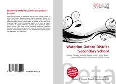 Обложка Waterloo-Oxford District Secondary School