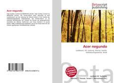 Acer negundo kitap kapağı