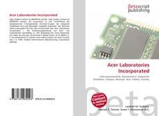 Bookcover of Acer Laboratories Incorporated