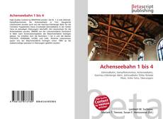 Bookcover of Achenseebahn 1 bis 4