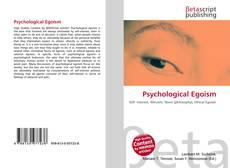 Buchcover von Psychological Egoism