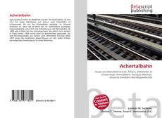 Capa do livro de Achertalbahn