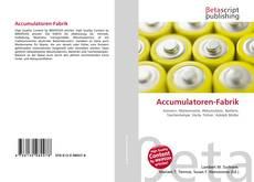 Bookcover of Accumulatoren-Fabrik